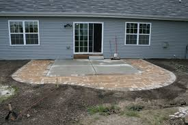 Large Paver Patio Design With Grill Station Bar Plan No by Expand Slab Patio With Paver Stepping Stones Yard Ideas