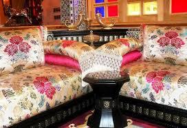 tissu pour canapé marocain tissus de salon marocain benchrif n 1 salon deco marocain