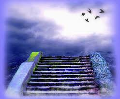 sky beautiful staircase stock step stones sky colors creative pre
