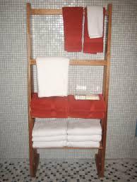Towel Storage In Bathroom In Vogue Brown Wooden Towel Storage Open Shelves Feature Grey