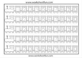 trace numbers worksheet worksheets