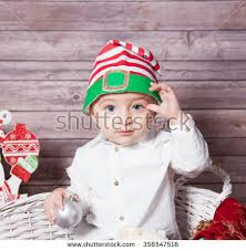 baby boy christmas portrait 1 year baby boy stock photo 358547438