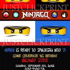 ninjago inspired lego birthday invitation printable