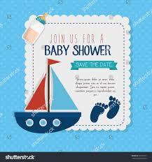 Baby Shower Invitation Card Baby Shower Invitation Card Stock Vector 522531037 Shutterstock