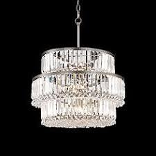 Broadway Linear Crystal Chandelier Brushed Steel Crystal Chandeliers Lamps Plus
