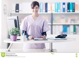 Hospital Receptionist Smiling Receptionist At The Clinic Stock Photo Image 81665814