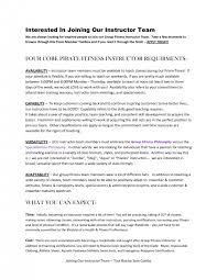 Sample Fitness Instructor Resume Cover Letter College Instructor Resume Community College