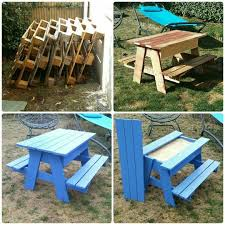 Best Wood To Make Picnic Table by Best 25 Wooden Kids Table Ideas On Pinterest Kids Table And