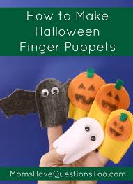 How To Make Halloween by Halloween Finger Puppets Tutorial With Free Template