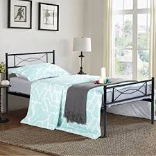 amazon com simlife metal bed frame twin size 6 legs two