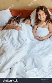 young children boy girls sleeping bed stock photo 458788714