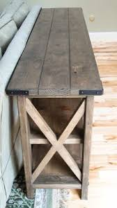 Build Wood End Tables by Best 25 Rustic Console Tables Ideas On Pinterest Diy Furniture