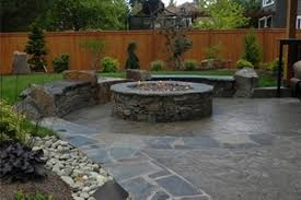 Stamped Concrete Patio Maintenance Stamped Concrete Patio With Fire Pit U2014 The Clayton Design