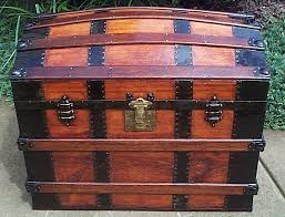beautiful travel trunks 317 restored dome top steamer trunk antique trunks top quality