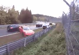 watch driver films insane multi car crash at the u0027ring wheels24