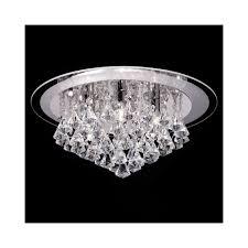 Cheap Ceiling Lights Uk Endon Renner 6ch 6 Light Semi Flush Chrome Ceiling Light