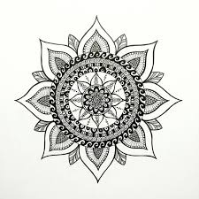Flower Drawings Black And White - best 25 circle doodles ideas on pinterest pattern drawing