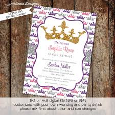 baby shower invitation princess by katiedid designs on zibbet