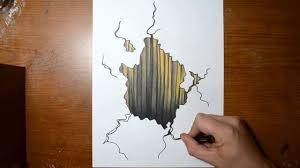 how to draw a 3d hole trick art on paper 3d drawing tutorial you