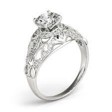 art deco diamond engagement ring setting 14k white gold 0 20ct