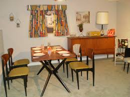 Retro Dining Room 50 S Style Retro Dining Room Table Chairs Chair Pads Cushions