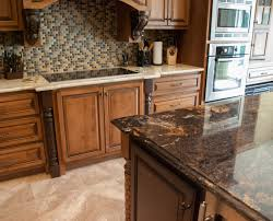 Kitchen Island With Granite Countertop Contrasting Island And Main Countertops Granite Kitchen Granite