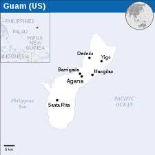 guam on map guam
