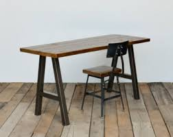 Steel Frame Desk Reclaimed Wood Desk With Steel A Frame Legs In Choice Of Sizes