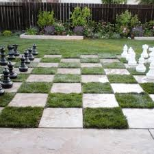 chess board lawn diy inspiring patio design ideas with grass