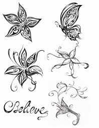 butterfly and flower designs for