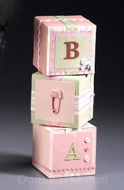 diy decorative baby blocks fashioned from foam and paper crafts