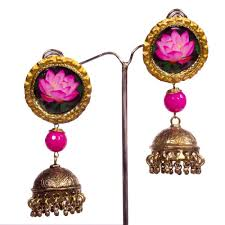 jhumka earrings online buy lotus jhumka earrings online beyondgallery