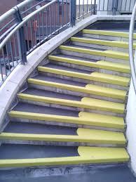 flooring public stair using non slip stair treads in black