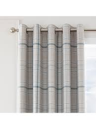 Teal Curtains Lewis Check Blackout Eyelet Curtains Teal Ponden Home