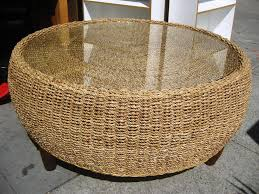 Rattan And Glass Coffee Table by Seagrass Coffee Tables For Cozy Living Room Old Wicker Table With