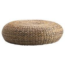 ottomans zelda coffee table rattan pouf round wicker outdoor