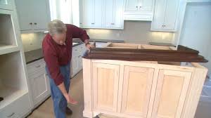 premade kitchen islands tip for finishing an island cabinet in your kitchen today s