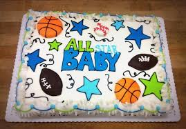 all star baby shower sheet cake u2014 trefzger u0027s bakery