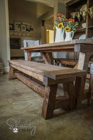 Bench Dining Tables Best 25 Table Bench Ideas On Pinterest Farm Table With Bench