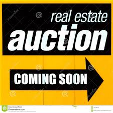real estate auction sign royalty free stock photography image