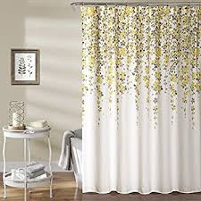 Grey And Yellow Shower Curtains Park Lola Cotton Shower Curtain Gray Yellow