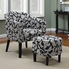 Gray And White Accent Chair Black And White Accent Chair With Ottoman I Accent Chair