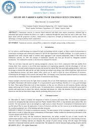 study on various aspects of translucent concrete ijaerdv04i0175518