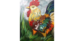 easy rooster painting acrylic tutorial the art sherpa youtube