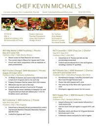 Private Chef Resume Chef Resumes Cv Samples U2014 Super Yacht Resume