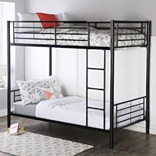 Bunk Beds Metal Frame Walker Edison Metal Bunk Bed Black