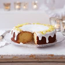 lemon and marzipan drizzle cake woman and home