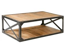 coffee table reclaimed wood and metal coffee table small round