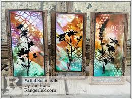 artful botanicals by tim holtz ranger ink and innovative craft