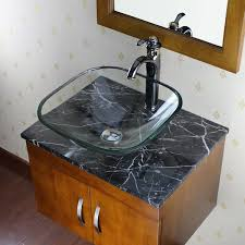 Glass Bathroom Sink Vanity Elite Clear Square Glass Bathroom Vessel Sink Free Shipping